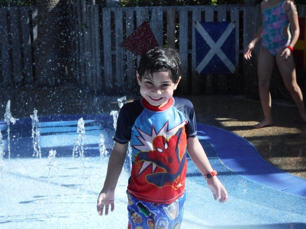 My son enjoys Spring-a-Leak at Castaway Cay, which is similar to a splash pad.