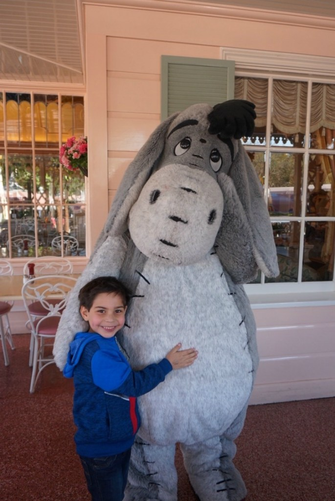 Eeyore is one of the characters that might make an appearance at Minnie & Friends - Breakfast in the Park.