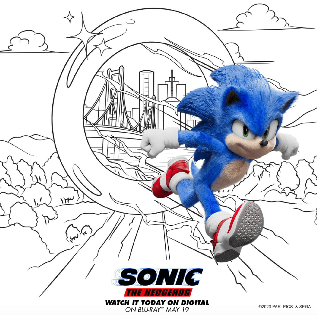 printable sonic the hedgehog movie coloring pages