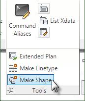 Make Shape tool on the Rib