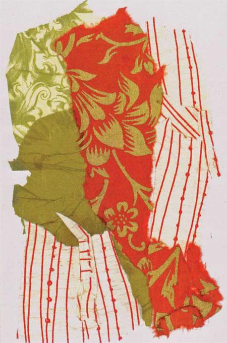 Kimono, collage by Jean Meyer