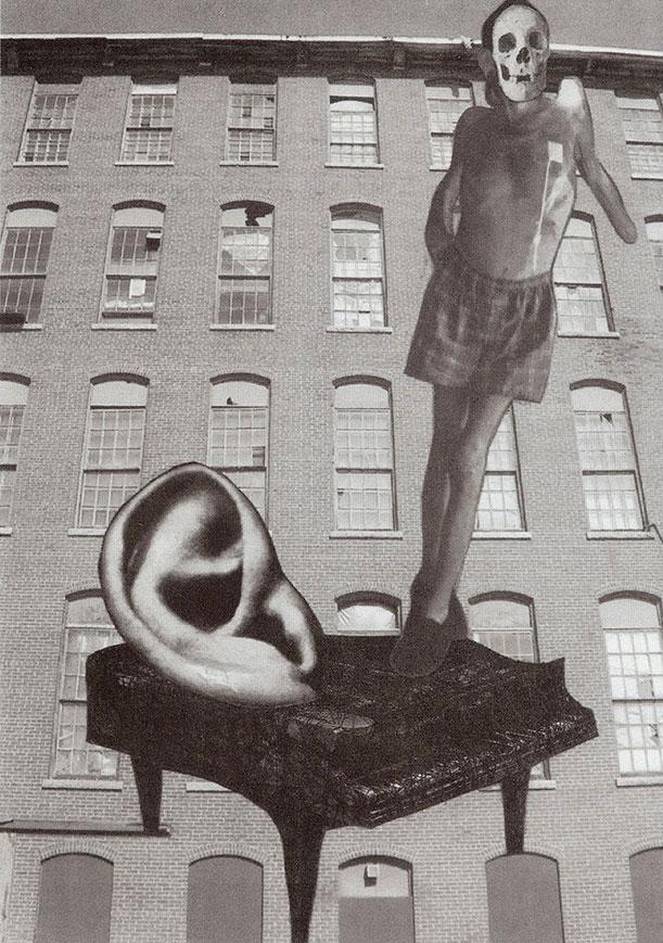 Wayne Atherton, Vertigos Piano Tuner, mixed media collage