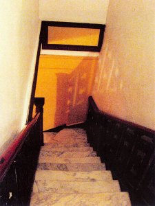 Staircase, Gershwin Hotel, NYC, photograph by Ross Bachelder