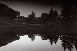 Fred Field, PemaquidPoint Light, pre-dawn reflection, Bristol, Maine, photograph