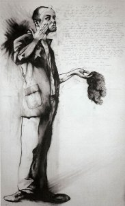 """What Do You Want To Be When You Grow Up? #1, compressed charcoal and Uniball pen 72""""x48"""" by Orson Horchler"""
