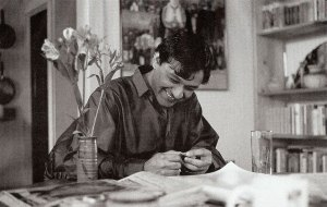 Agha Shahid Ali, Lancaster Suite No 3, photograph, 1990, by Stacey Chase