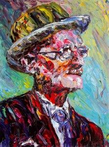 James Joyce, oil on canvas by Liam O'Neill