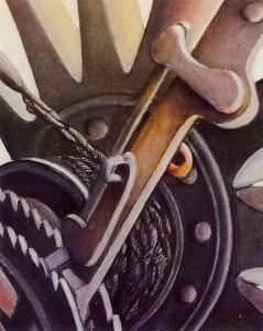 Crank, acrylic by Susan Wilder