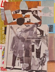 RUBBLE, mixed media collage by Wayne Atherton