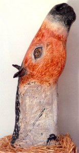 Red Ardennais, fired clay and glaze by Amy Evans McClure