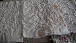 first stitching