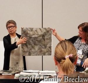 Yoko Saito Centenary 23 fabric- mottled leaves