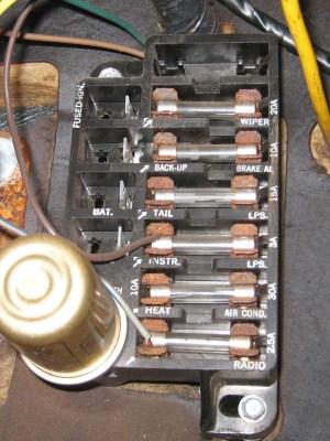 Fuse panel in 64 impala  Impala Tech