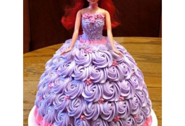 Buy Cute Barbie Doll Shape Cake With Best Price