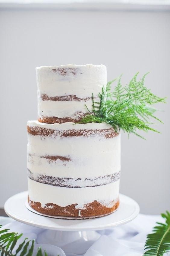 Wedding Cake Decorated With Ferns 6 The Cake Decorating Co Blog