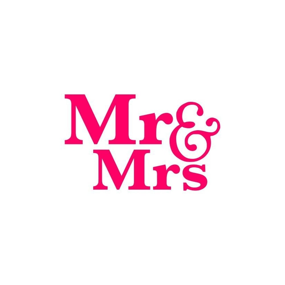 Mr And Mrs Cookie Stencil  Wedding Cake Decorations