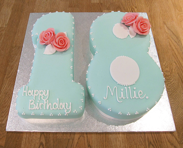 Number 18 Birthday Cake The Cakery Leamington Spa