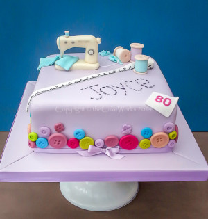 80th Birthday Sewing Theme Cake O Cakes For Women