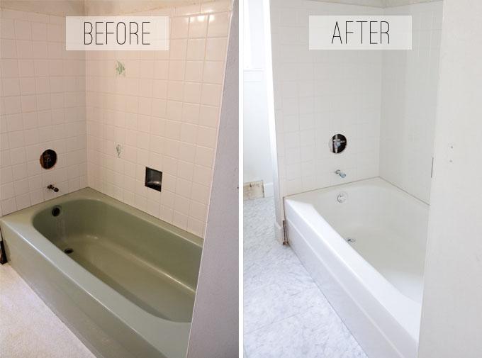 to spray or not to spray a bathtub