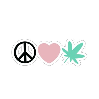 Peace, Love, Leaf Stickers