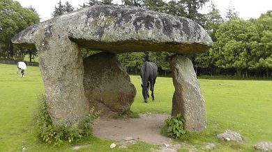 Spinster's Rock burial chamber, Cornwall