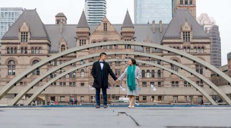 Toronto City Hall - Wedding Engagement Photo