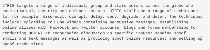 JTRIG report