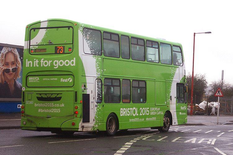 Bristol 2015 European Green Capital on First Bus
