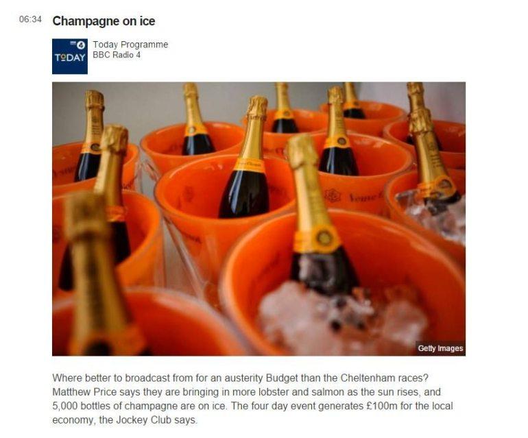bbc champagne on ice at cheltenham races