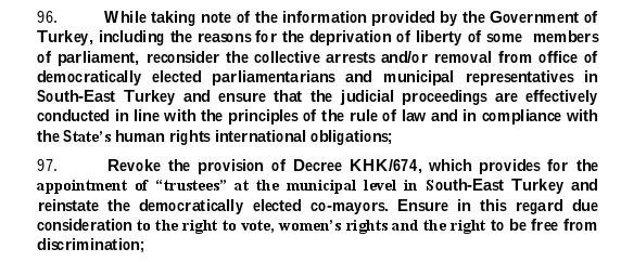 UN report on Turkey extract