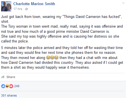 things d cameron has fked
