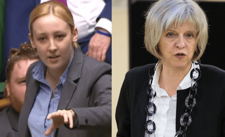 The UK's youngest MP destroys Theresa May's first go at PMQs with a single comment