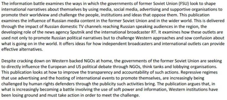 Foreign Policy Centre Russian Propaganda
