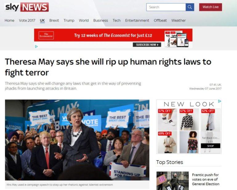 Sky News May Slough