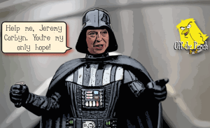 Darth May asks Jeremy Corbyn's Rebel Alliance for help running the Empire OTP