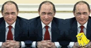 Vladimir Putin smirking