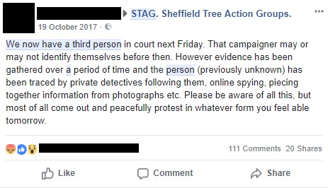 Sheffield City Council used a private investigator to collect information on campaigners
