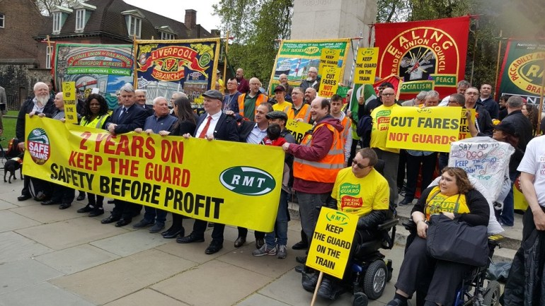 The RMT made its voice heard along with disabled people