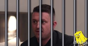 Tommy Robinson behind bars