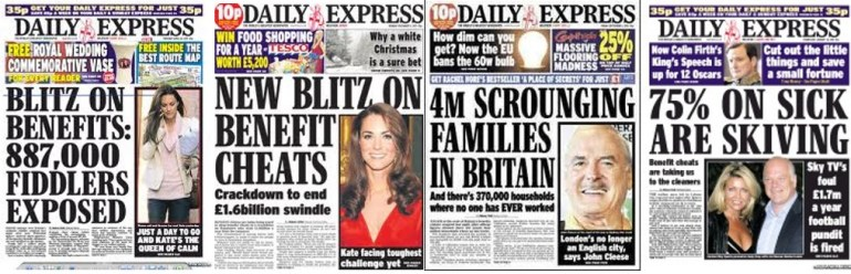 A selection of Daily Express Headlines