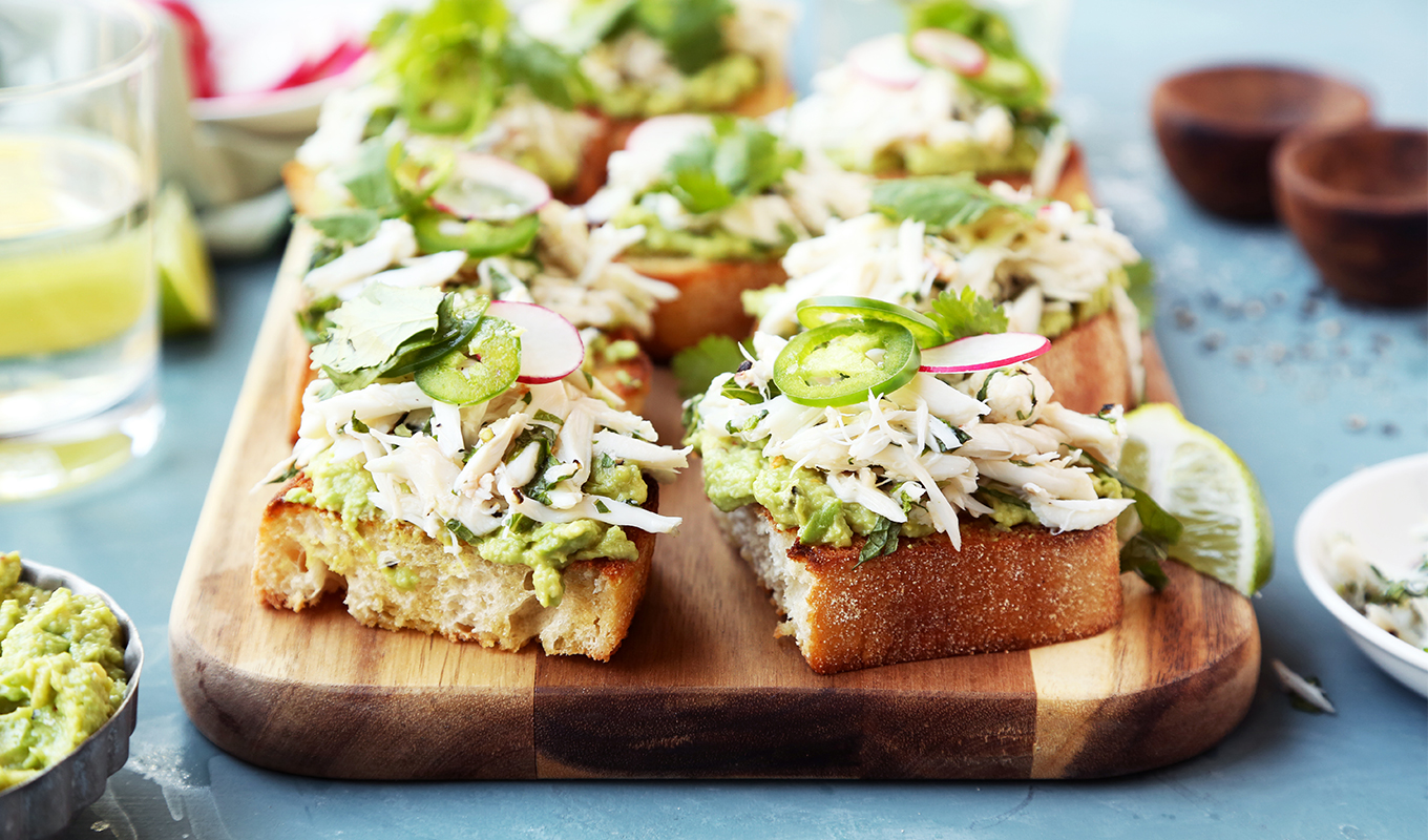 Cheers to the Weekend: Avocado and Crab Toast
