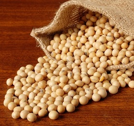 Soybeans are used to make soy wax candles
