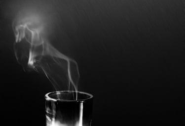 Candle smoke plume