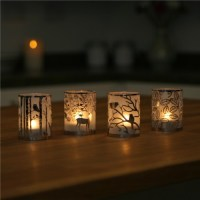 Stylys Glass Tealight Candle Holder - Deer