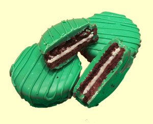 mint chocolate oreos