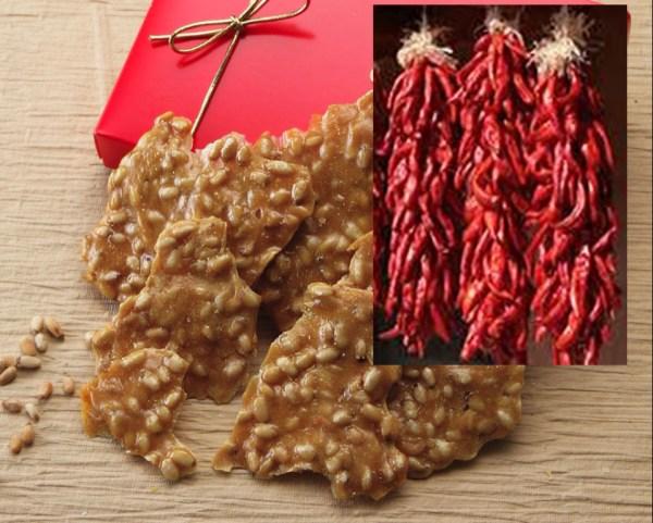 Red Chile pinon brittle