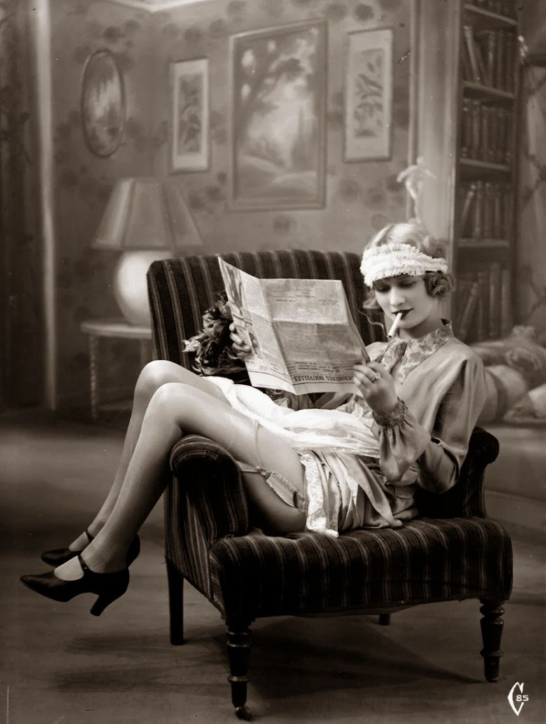 Image result for 1920s newspaper reading