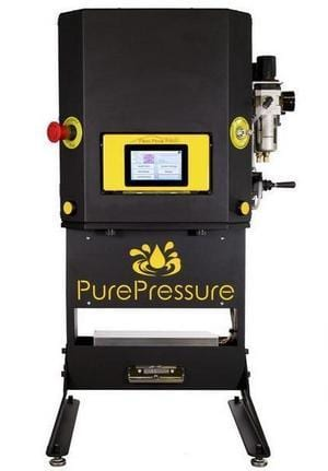the best pneumatic rosin press on the market in 2020. the pure presser pike v2.