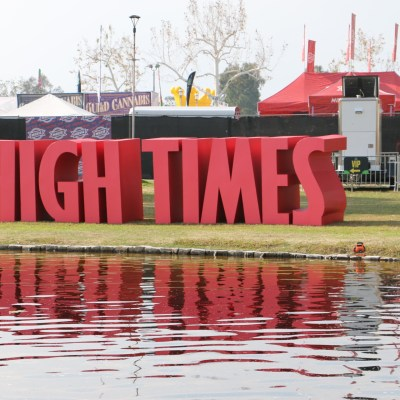 High Times Cannabis Cup sign