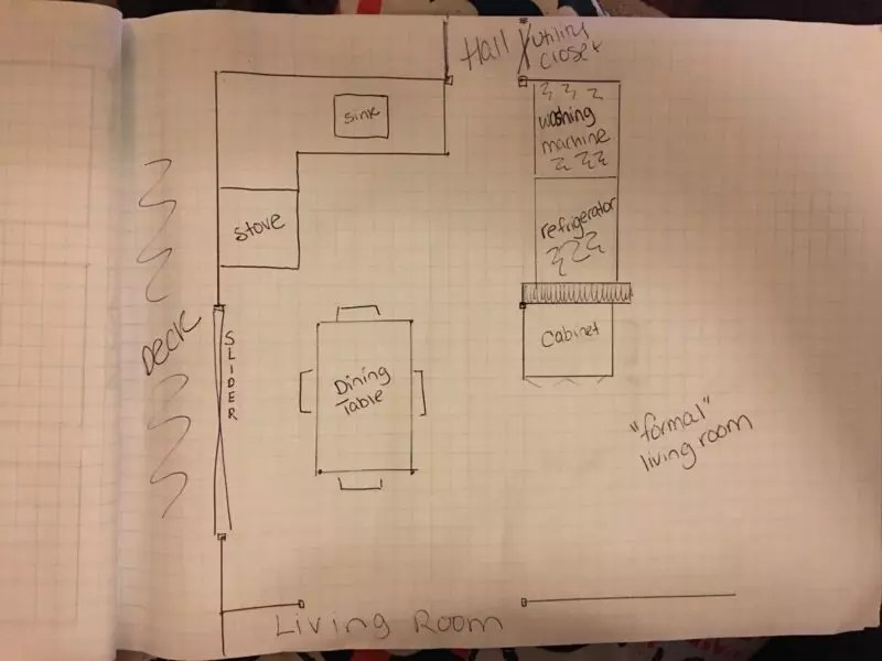 this is the original kitchen layout